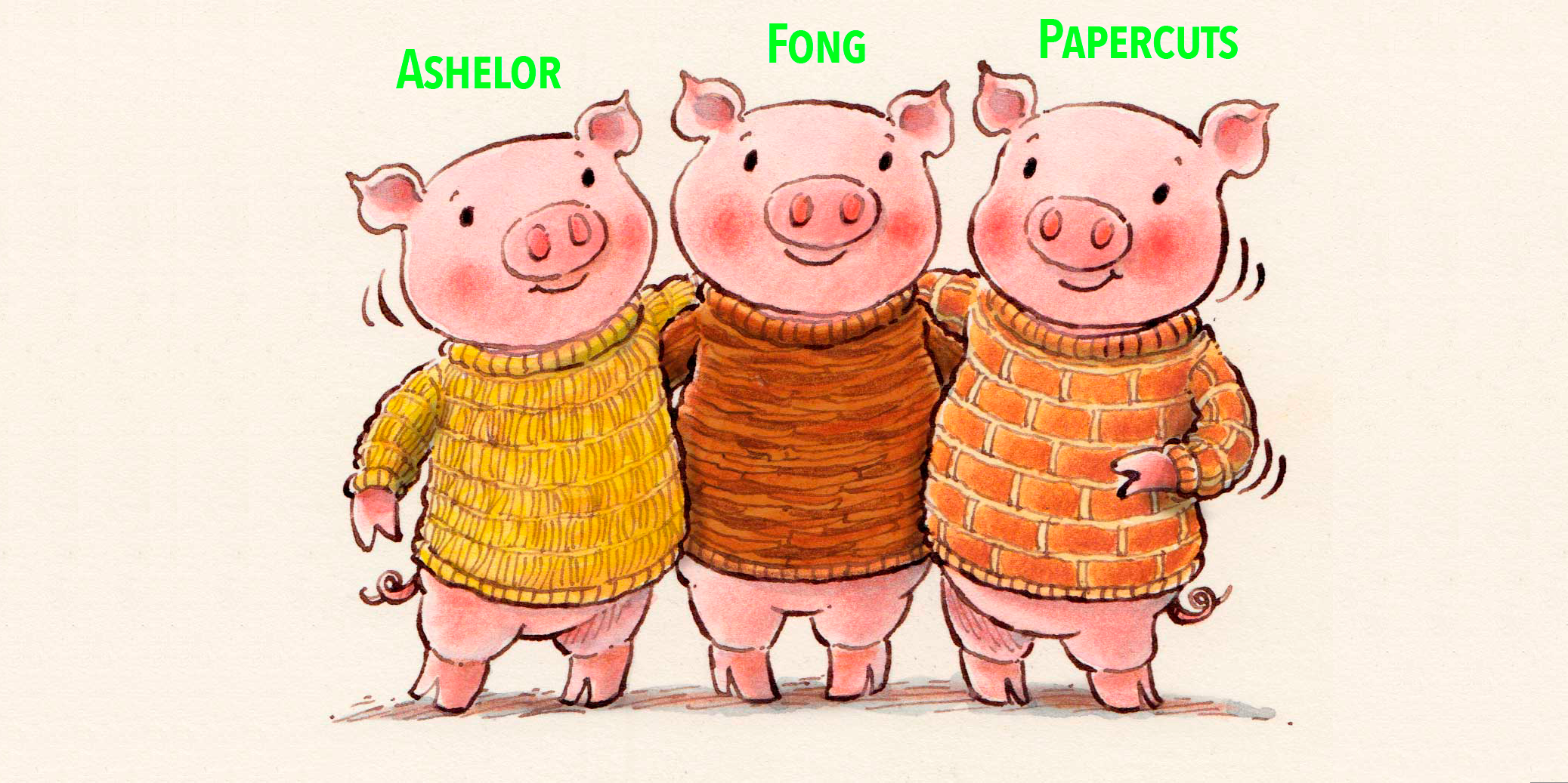 Fresh pigs for the pen